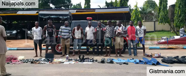 See Photo Of The Ten Niger Delta Avengers Militants Arrested Today (Photo)