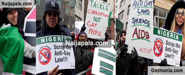 [Photo Gallery] Nigerians Storm New York To Protest Against Nigeria's Anti-Gay Law