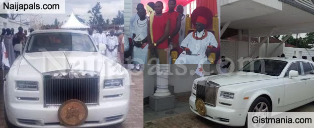 Newly Crowned Oba Of Benin, Oba Ewuare II, Flaunts His New 2016 Rolls Royce Phanton - Photos