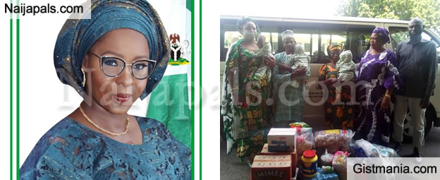 Kwara's First Lady, Olufolake AbdulRazaq Donates Food Items, Money To Triplet's Parents
