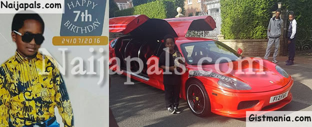 Daughter Of Esama Of Benin, Omosede Igbinedion Throws Lavish Ferrari Party For Only Son