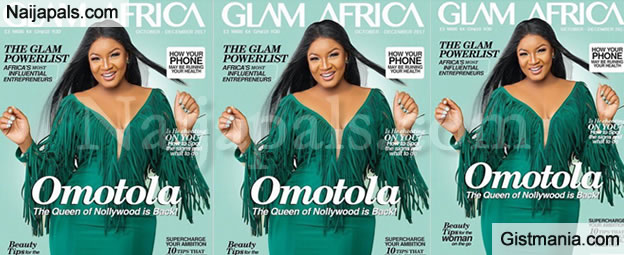 Nollywood Diva, Omotola Jalade Stuns On The Cover Of The Latest Edition Of Glam Africa Magazine - Pic