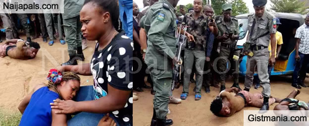 PHOTOS:  Lady Rescued From Diabolic-Yahoo Boys In Asaba, Delta State