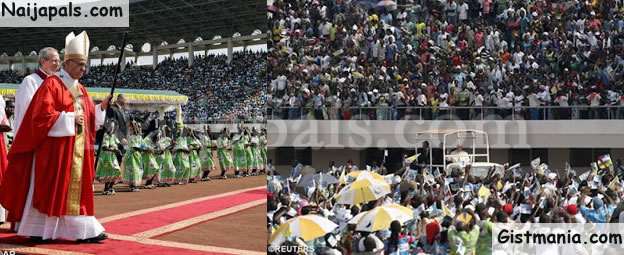 Photos Of Pope Francis Celebrating Mass At Bangui's Bathelemy Boganda Stadium In CAR
