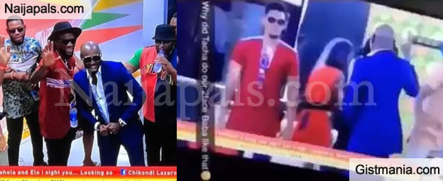 #BBNaija: Watch The Embarrassing Moment Tacha Snubbed 2Face's Handshake (Video)