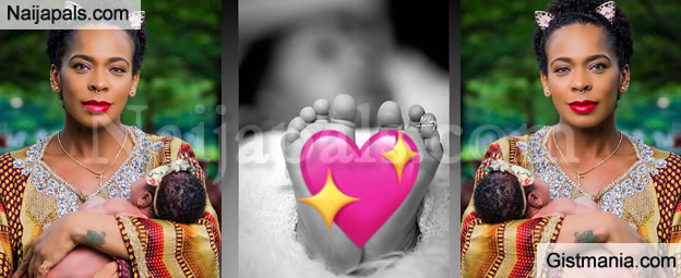 """""""Flesh Of My Flesh, Blood Of My Blood"""" - BBNaija's Tboss Says As She Shares First Baby Photo"""