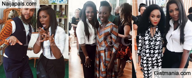 PHOTOS: Tiwa Savage Poses With Jidenna, Lupita Nyong'o & Janelle Monae At FemTheFuture Brunch In NY