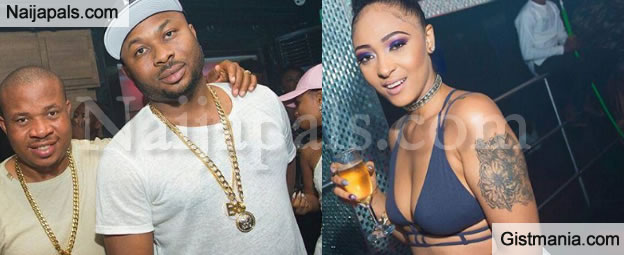 Tonto Dikeh's Husband & PA Rose Meurer Spotted Partying At Quilox Night Club - Photos