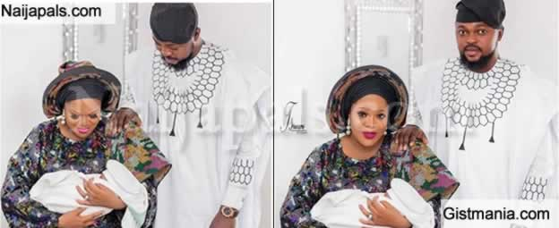 Toyin Abraham Shares Beautiful Family Photo With Her Husband And Their Adorable Son, Ire
