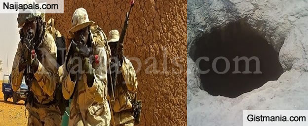 Nigerian Troops Discovered Large Pit Used By Boko Haram To Dump Bodies Of Victims