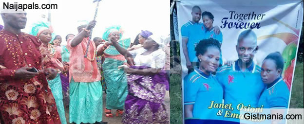 Check Out Photos From The Wedding Ceremony Of Man Who Married Two Women Today In Delta State (Pics)