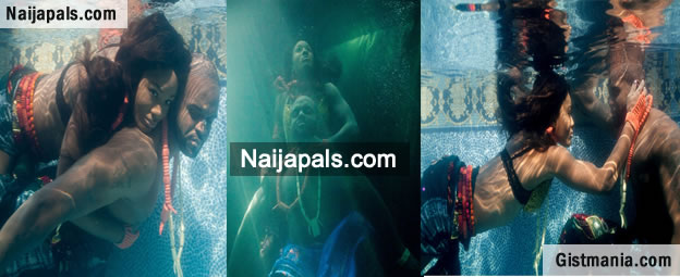 Wow! Mami water wedding? Checkout Nigerian's First Underwater Pre-wedding Photoshoot