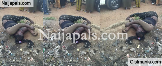 Ooops: A Dark Skinned Lady Murdered And Dumped At Olomore Refuse Dump By Unknown (Photo)
