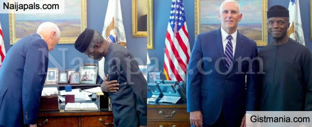 VP Osinbajo Received By His American Counterpart, Mike Pence As He Visits White House (Photos)