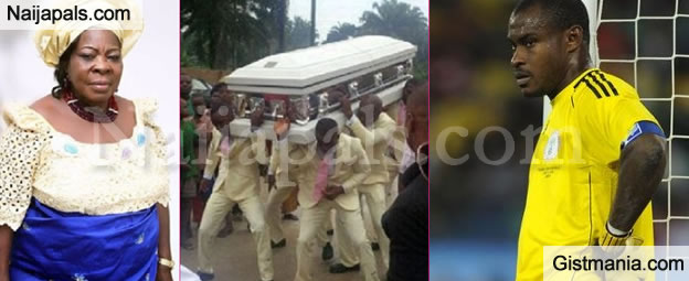 RIP: Joseph Yobo, Amaju Pinnick, Others In Attendance As Vincent Enyeama Buries Mum (Photos)