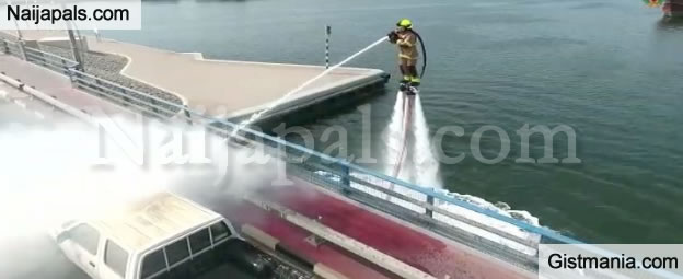 WOW! Dubai Civil Defence Launches Service That Allows Firefighters To Use Water Jetpacks