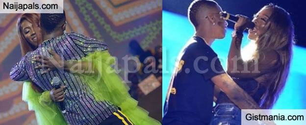 CHEMISTRY! Video Of Wizkid & Tiwa Savage Performing On The Stage With Lot Of Affections