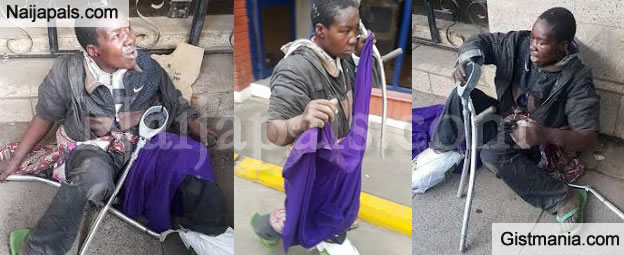 PIX: Angry Mob Almost Lynched Woman Who Faked To Be Disabled After She Was Caught Stealing In Kenya