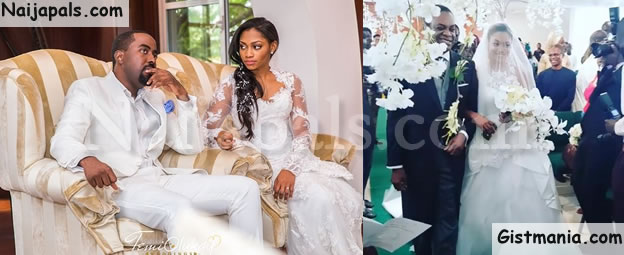 Photos From The White Wedding Between DJ Caise And Donald Duke's Daughter, Xerona