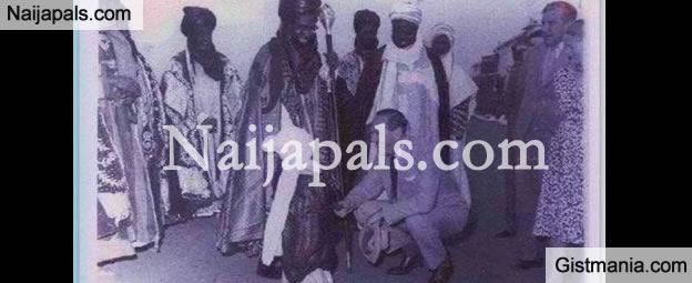 Picture Of Young Sanusi, His Grand-dad , Bello And A British Diplomat