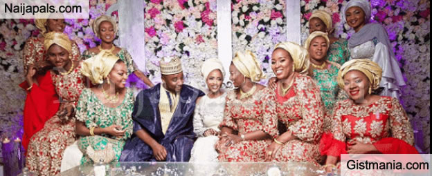 President Buhari's Daughter, Zahra Shares Photo Of Herself With Her Billionaire In Laws