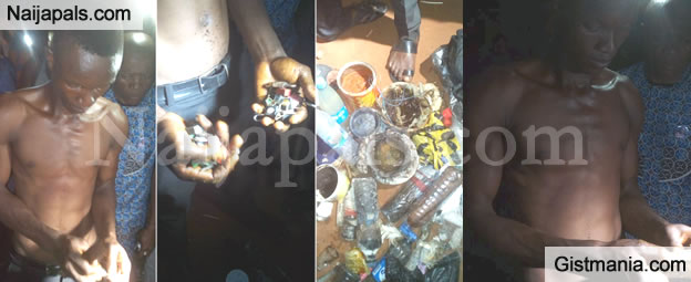 Aba Trader Caught With Voodoo Padlock He Used To Tie The Destiny Of His Colleagues (Photos)