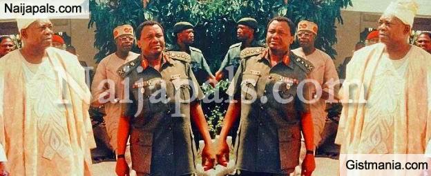 Epic Throwback Photo Of Gen Abacha, Abiola And Bola Tinubu [Photos]