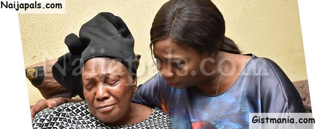 Tears As Honourable Abike Dabiri Visits Mom Of Nigerian Doctor, Gbolade Ejemai Killed In Ukraine (Photo)