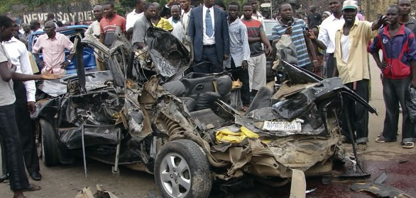 Photos From The Accident Scene Involving El Rufai's Young Son