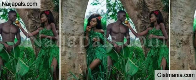 Check Out Adam&Eve Inspired Pre-Wedding Photo shot That Got People talking