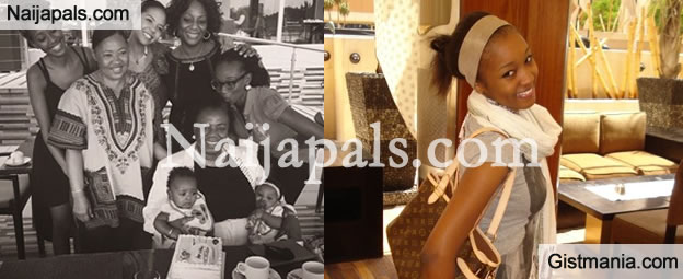 In Love! Oil Tycoon's Daughter, Adama Indimi Spotted With D'banj At Mum's Party