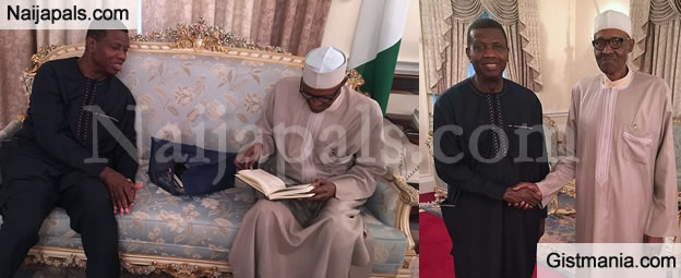 RCCG General Overseer, Pastor Adeboye Visits President Buhari In London, Prays For Him (Photos)