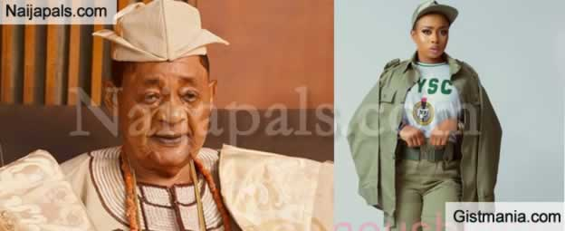 Behold An Adorable Photo Of Alaafin Of Oyo's Last Wife As She Enrols For NYSC