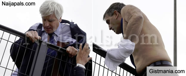 Air France Top Bosses Forced To Skip Fence After Firing 2900 Staff In France - Video