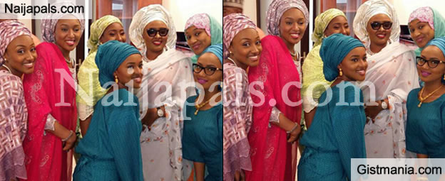 BEAUTIFUL FAMILY: Check Out Photo Of The New Nigeria's First Lady With Her Daughters
