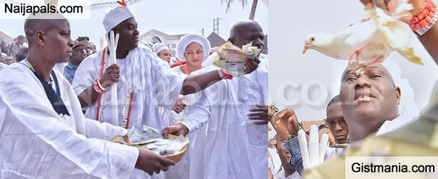 Photos From The Aje Festival Hosted By The Ooni Of Ife With His Oloori, Prophetess Naomi