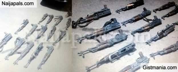 Man Paraded With 15 Loaded AK-17 Riffles Heading Out From Plateau State