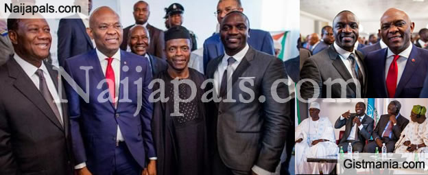 Akon Meets Tony Elumelu, VP Osinbajo Africa Energy Leaders In Abidjan [Photos]