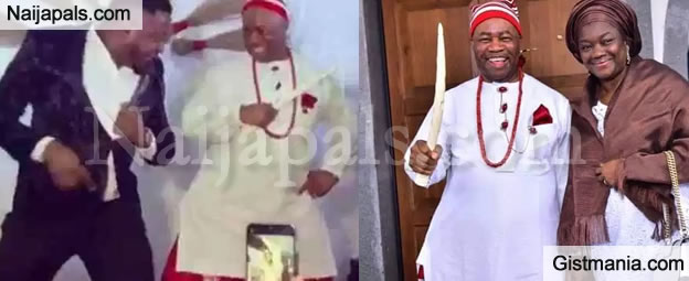 Akpabio Spotted Doing The 'Gbe Bodie' & Zanku Dance After His Swearing-in in Abuja (VIDEO)