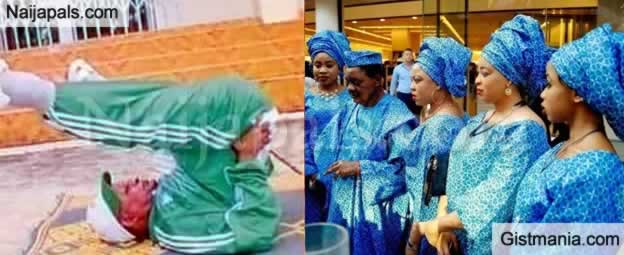 80 Years Old Alaafin Of Oyo with 5 Wives Spotted Doing Back Crunch