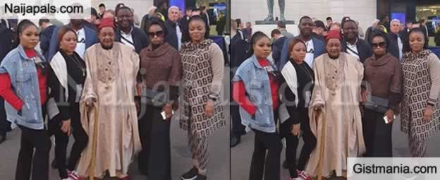 Alaafin of Oyo All Smile As He Enjoys Vacation With His Wives In London