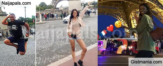 Actor Alex Ekubo & His American Model Girlfriend, Fancy Acholonu Celebrate Her Birthday In Paris (Photos)