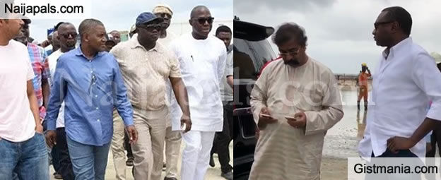 Watch Moment Billionaire Otedola Visited His Friend Aliko Dangote's Multi-Billion Refinery (Video)