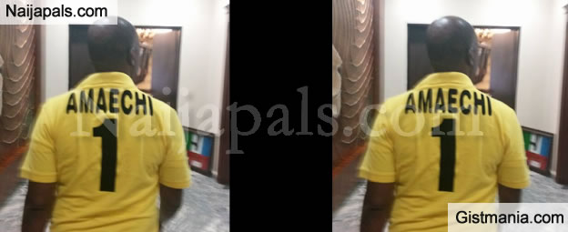 Minister Of Transportation, Rotimi Amaechi Spotted Wearing Customized T-Shirt