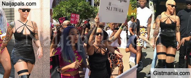 Check Out Photos From Amber Rose's Slutwalk For The Fight Against Double Standards Against Women