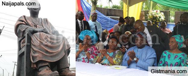 Gov. Ambode Unveil New Obafemi Awolowo's Statue In Lagos