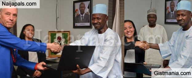 American Government Donates 6 Laptops To EFCC To Fight Corruption