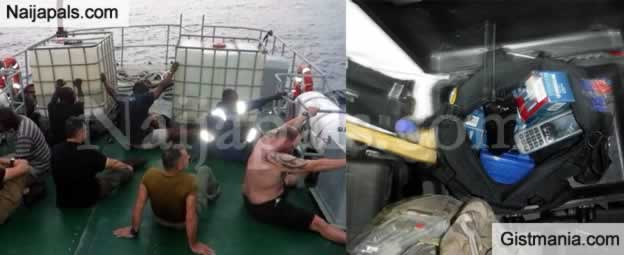 Nigerian Navy Arrests American Criminal and Greek Pirates Trying To Hijack a Nigeria Vessel