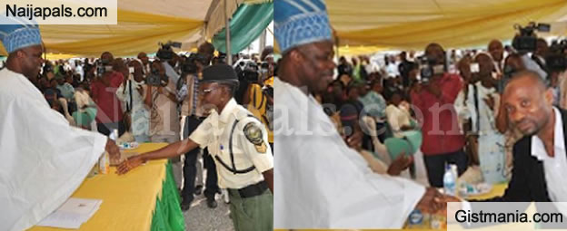WOW!!! Gov. Amosun Rewards Street Sweeper, Traffic Officer & Others With 2 Bedroom Flats