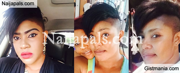 Pretty Actress, Angela Okorie debuts new look with her gangster hairstyle